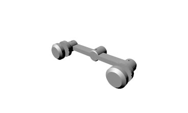 Stature - Two sided architectural glass hardware fitting (button)