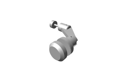 Axis - One sided architectural glass hardware fitting (w/ nut)