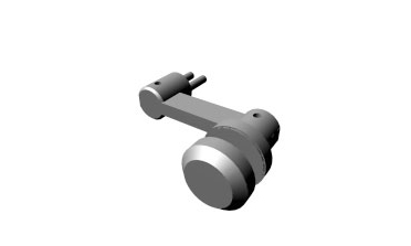 Stature - Single sided architectural glass hardware fitting (button)