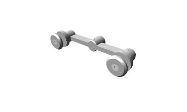 Stature - Two sided architectural glass hardware fitting (low profile)