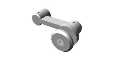 Stature - Single sided architectural glass hardware fitting (low profile)