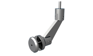 Virtu - Handrail bracket for glass mounting (w/ washer)