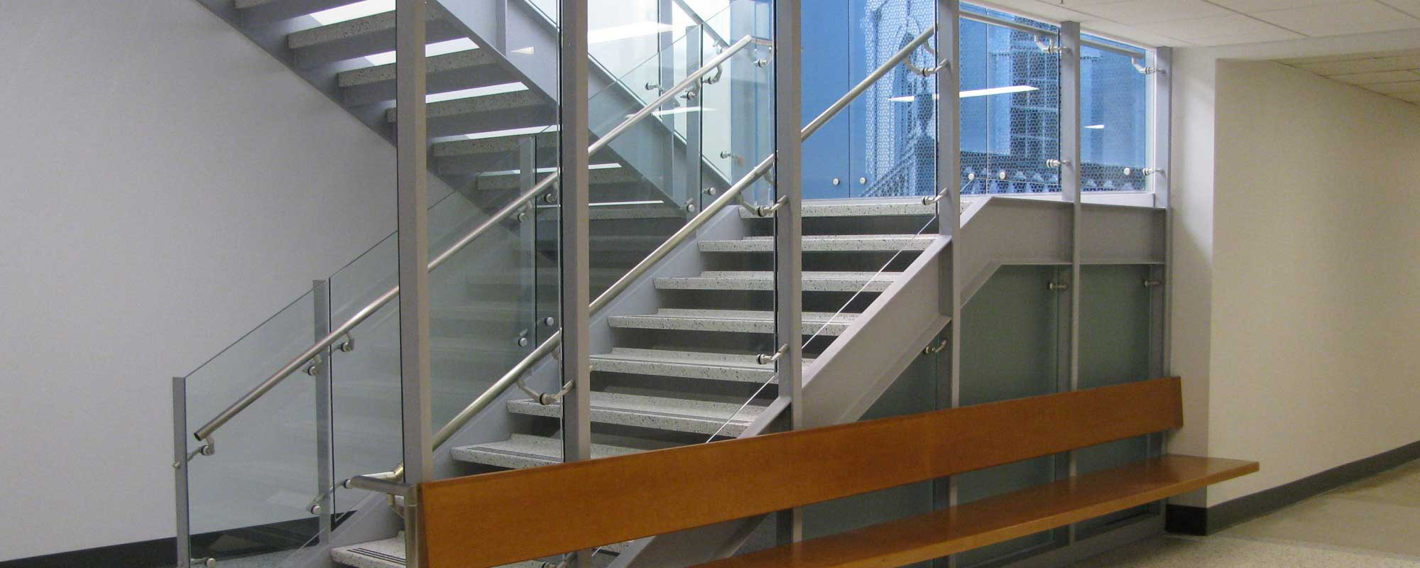 Architectural Fittings - Glass Panel Handrail Staircase